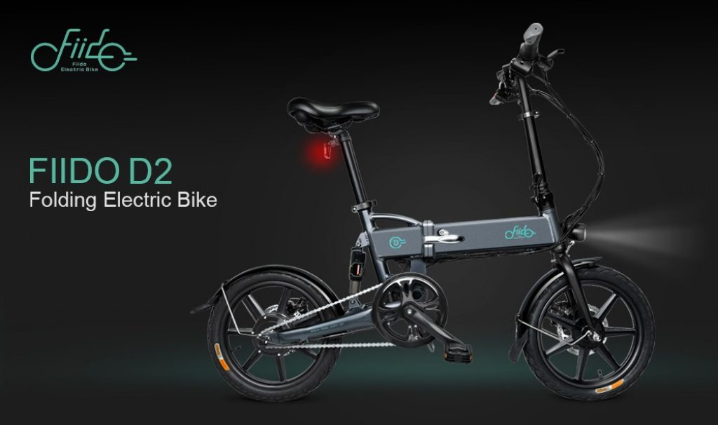 coupon, banggood, FIIDO D2 36V 7.8Ah 250W 16 Inches Folding Moped Bicycle 25kmh Max 50KM Mileage Electric Bike