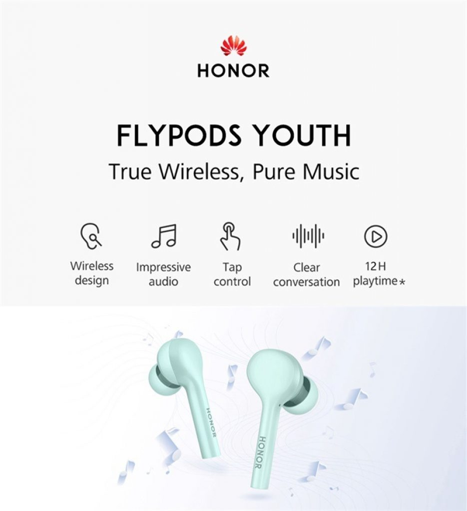 coupon, gearvita, HUAWEI Honor FlyPods Youth AM-H1C TWS Bluetooth Earphones