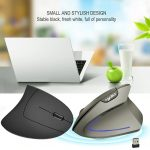 coupon, gearbest, HXSJ T22 Rechargeable Vertical Wireless Mouse