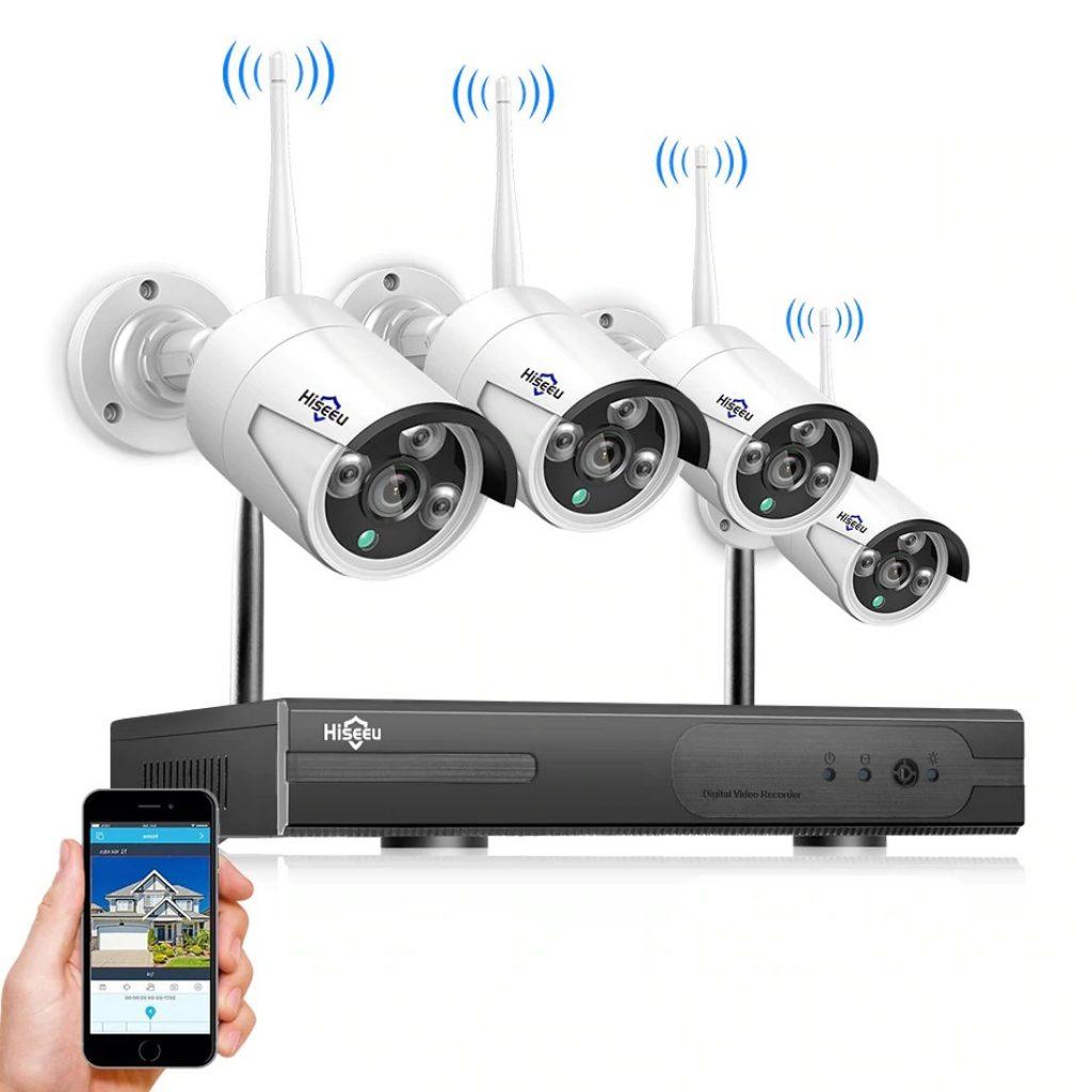 coupon, banggood, Hiseeu 4CH Wireless NVR 960P WIFI CCTV System IP Camera IR Outdoor Camera Security Surveillance Kit