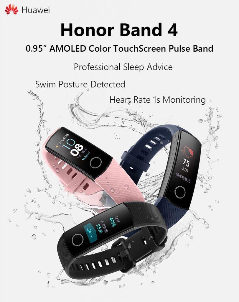 coupon, gearvita, Huawei Honor Band 4 Smart Wristband Amoled Color Screen