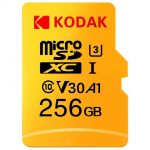 coupon, gearbest, Kodak High Speed U3 A1 V30 Micro SD Card TF Card - Yellow 256G