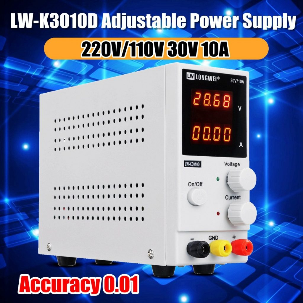 coupon, banggood, LONG WEI LW-K3010D 110V 220V 30V 10A Adjustable Digital DC Power Supply Switching Power Supply