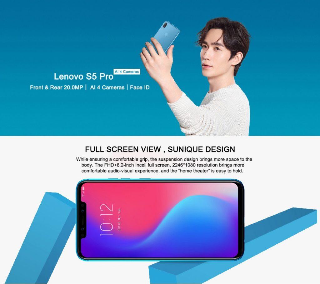 coupon, gearvita, Lenovo S5 Pro 4G Smartphone
