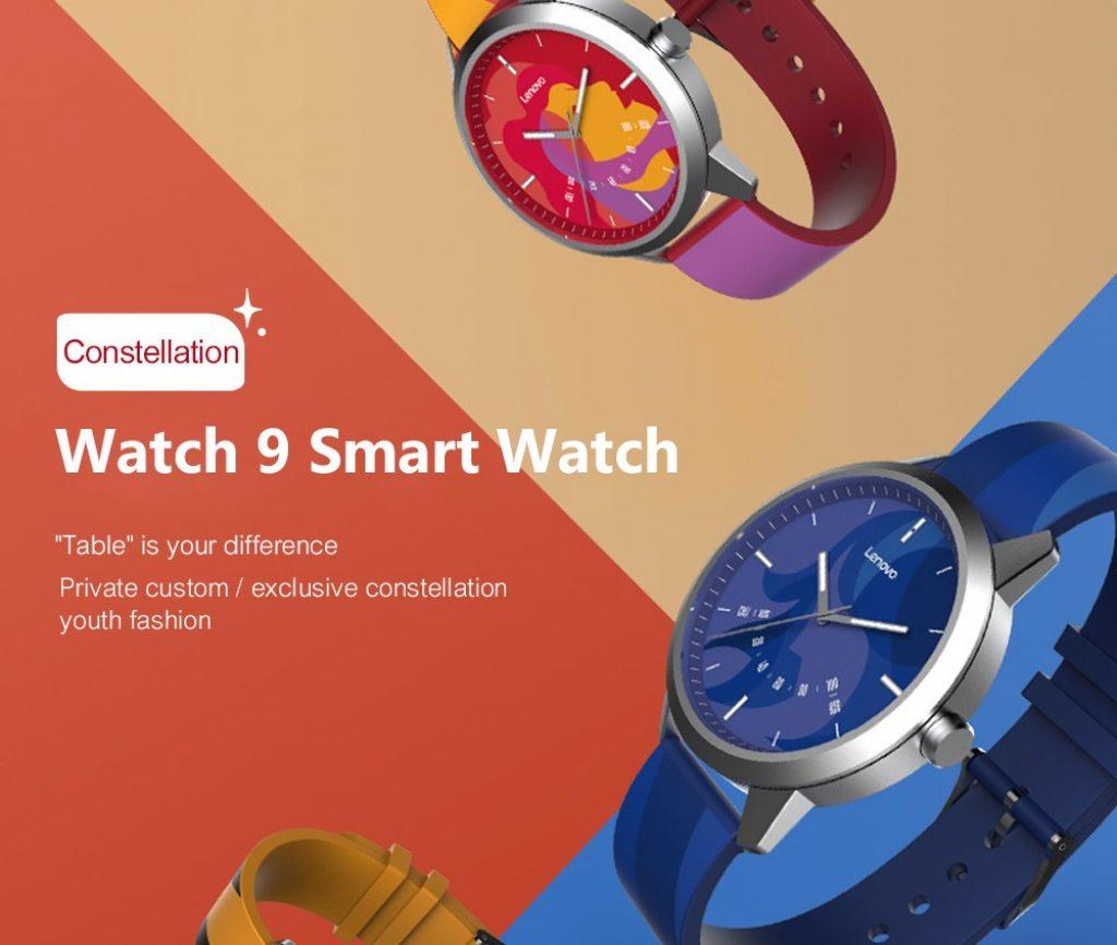 coupon, banggood, Lenovo Watch 9 Smart Watch Sapphire Glass 5ATM Sleep Monitor Remote Camera Constellation Edition