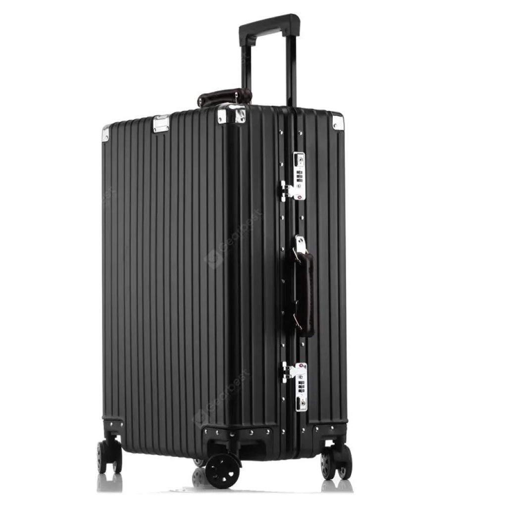 coupon, gearbest, MATOM Vintage Version of All Aluminum Magnesium Alloy Suitcase