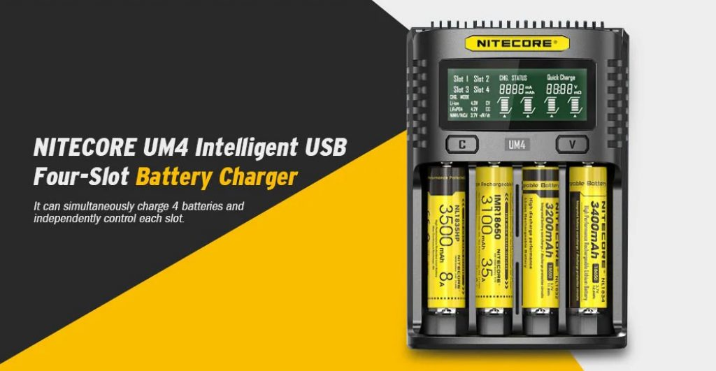 coupon, gearbest, NITECORE UM4 Intelligent USB Battery Charger