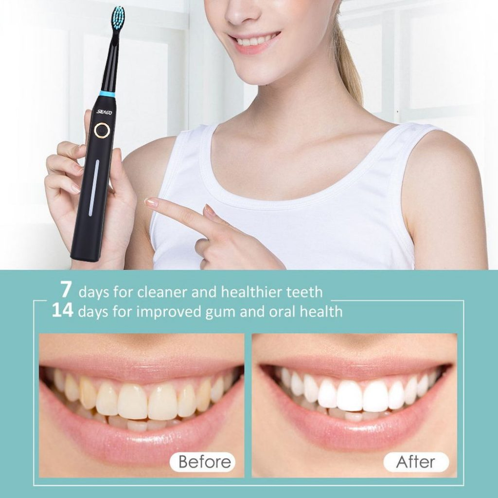 coupon, gearvita, Seago SG-958 Sonic Electric Toothbrush