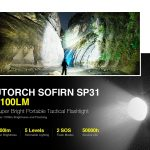 coupon, gearbest, Utorch Sofirn SP31 1100lm Super Bright Portable Tactical Flashlight