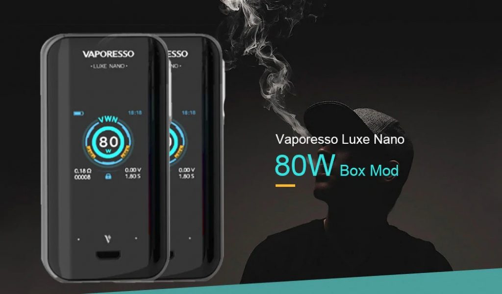 coupon, gearbest, Vaporesso Luxe Nano 80W Box Mod
