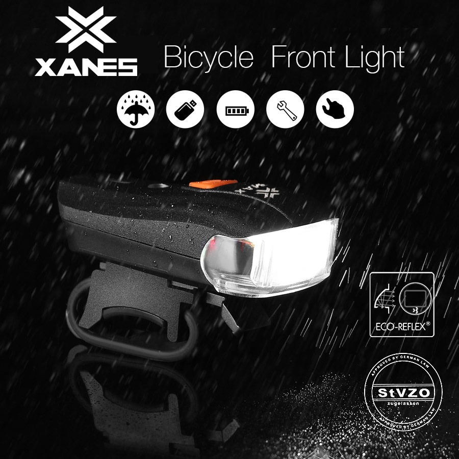 2 LED Bicycle German Standard Smart Sensor Warning Ligh XANES SFL-01 600LM XPG