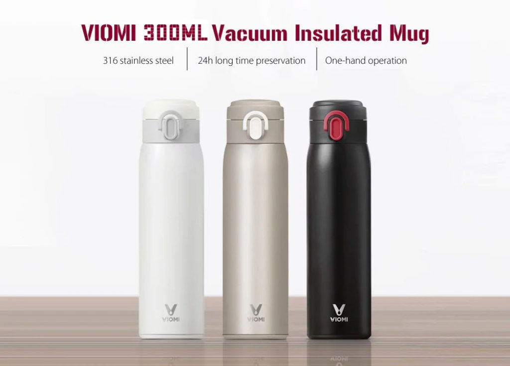 coupon, banggood, XIAOMI VIOMI 300ML Stainless Steel Thermose Double Wall Vacuum Insulated Water Bottle Drinking Cup Drinking Bottle