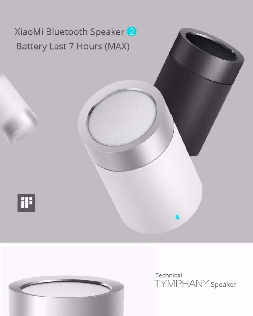 coupon, gearvita, Xiaomi Bluetooth Speaker 2 Wireless Hands Free Cylindrical Shape