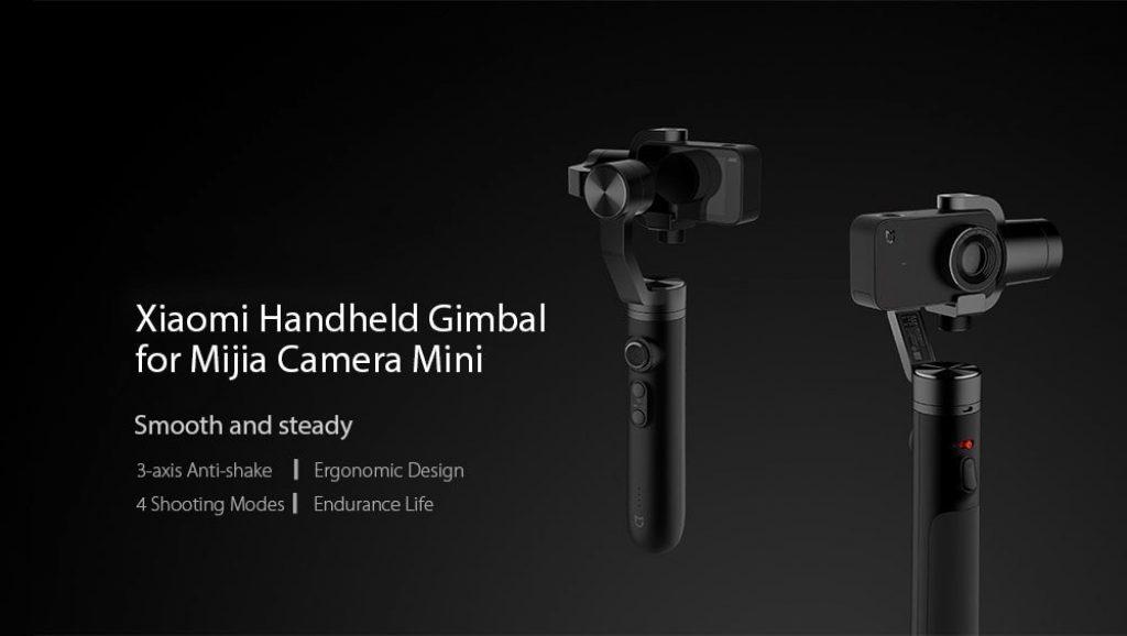 coupon, gearvita, Xiaomi Mi 3-axis Action Camera Handheld Gimbal