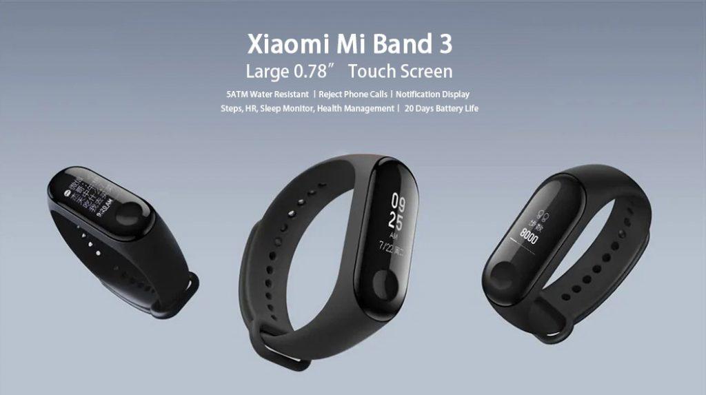 coupon, gearvita, Xiaomi Mi Band 3 Smart Bracelet Wristband