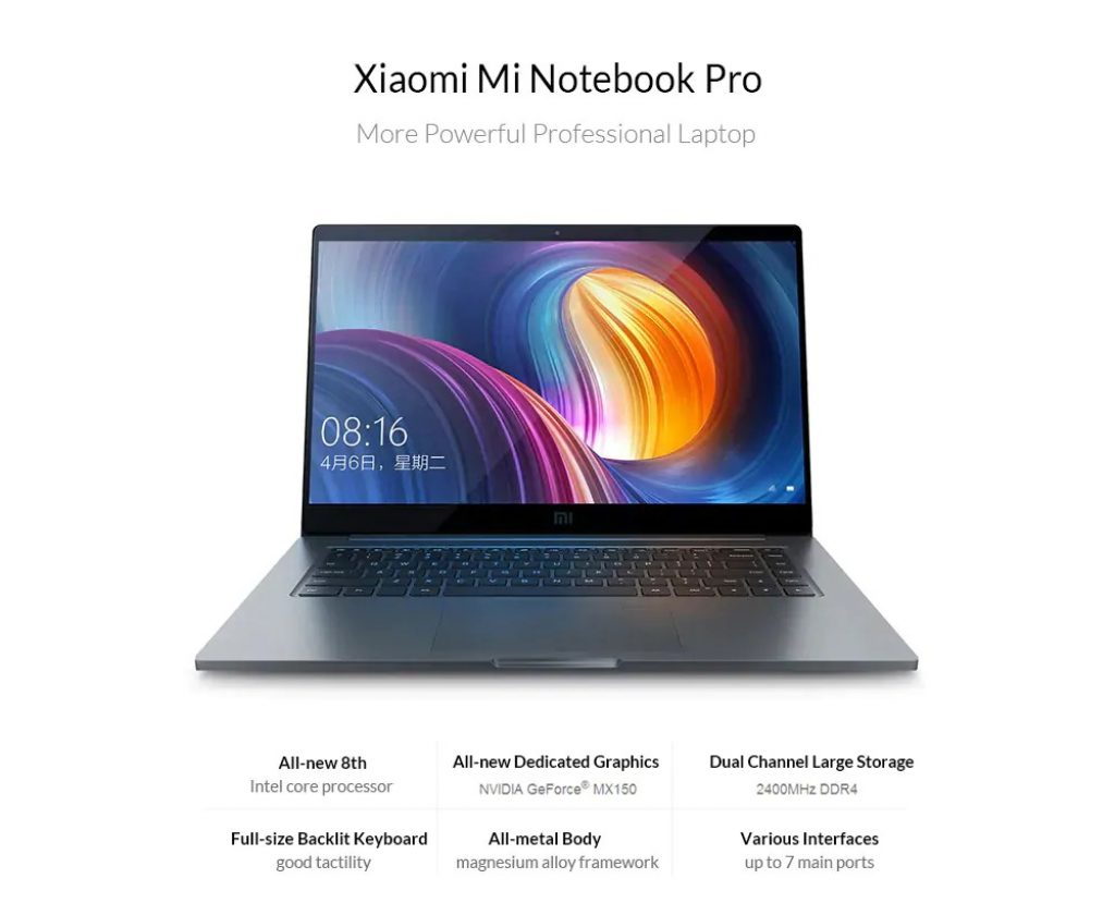 coupon, gearbest, Xiaomi Mi Notebook Pro 15.6 inch