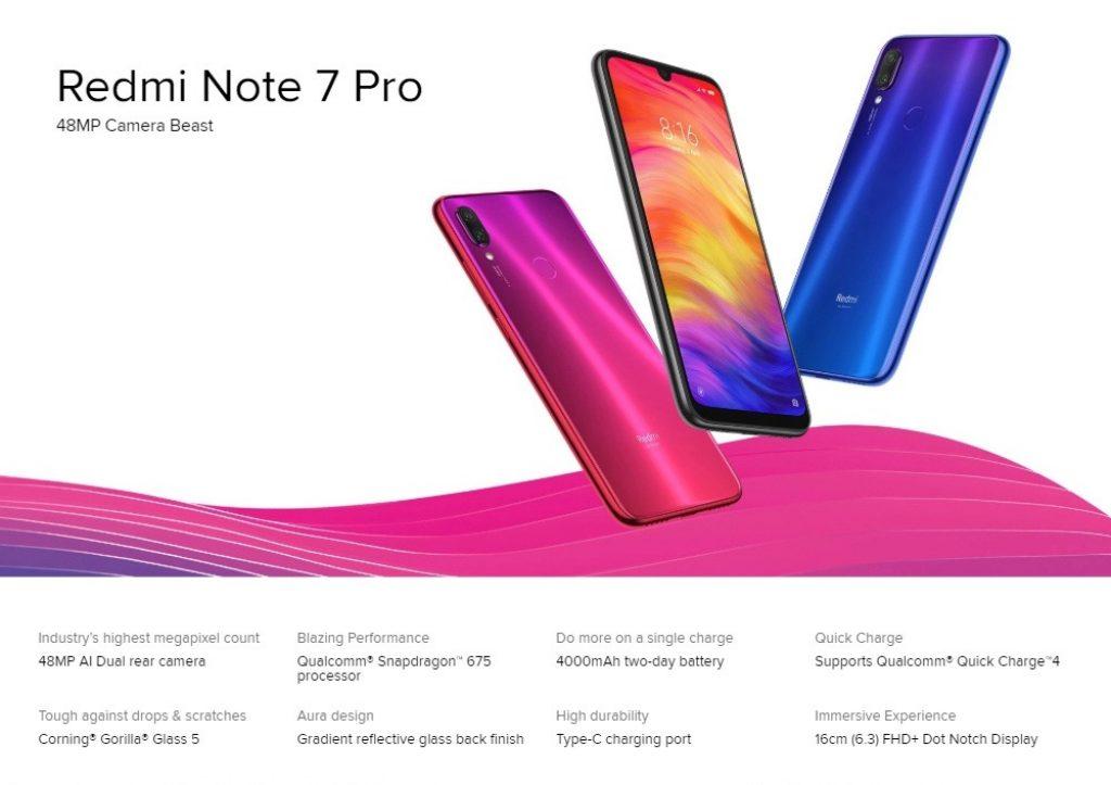 kupon, dişli, Xiaomi Redmi Not 7 Pro 4G Akıllı Telefon