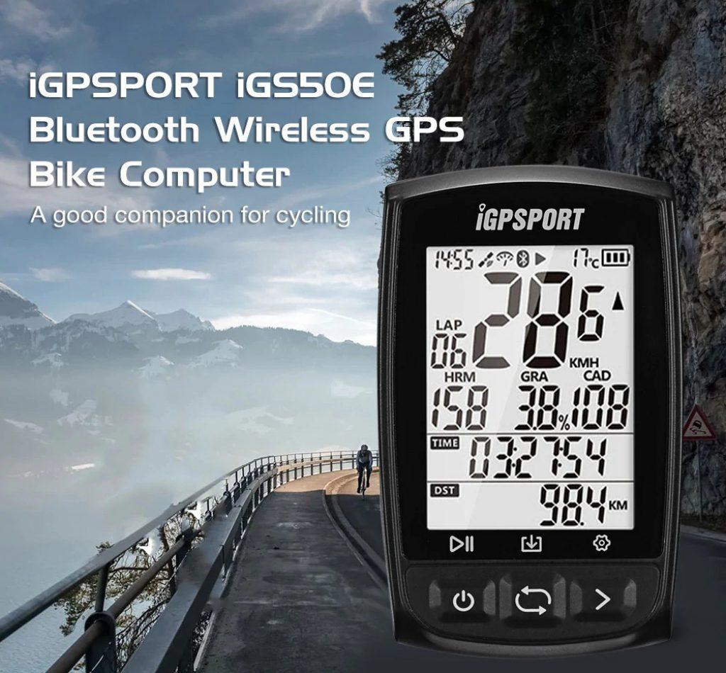 coupon, gearbest, iGPSPORT iGS50E Bluetooth Wireless GPS Bike Computer