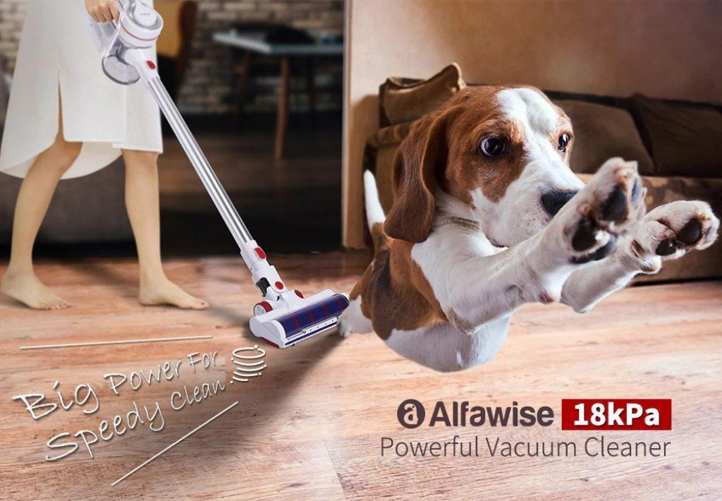 쿠폰, gearbest, Alfawise AR182BLDC 18kPa 강력한 무선 스틱 진공 청소기