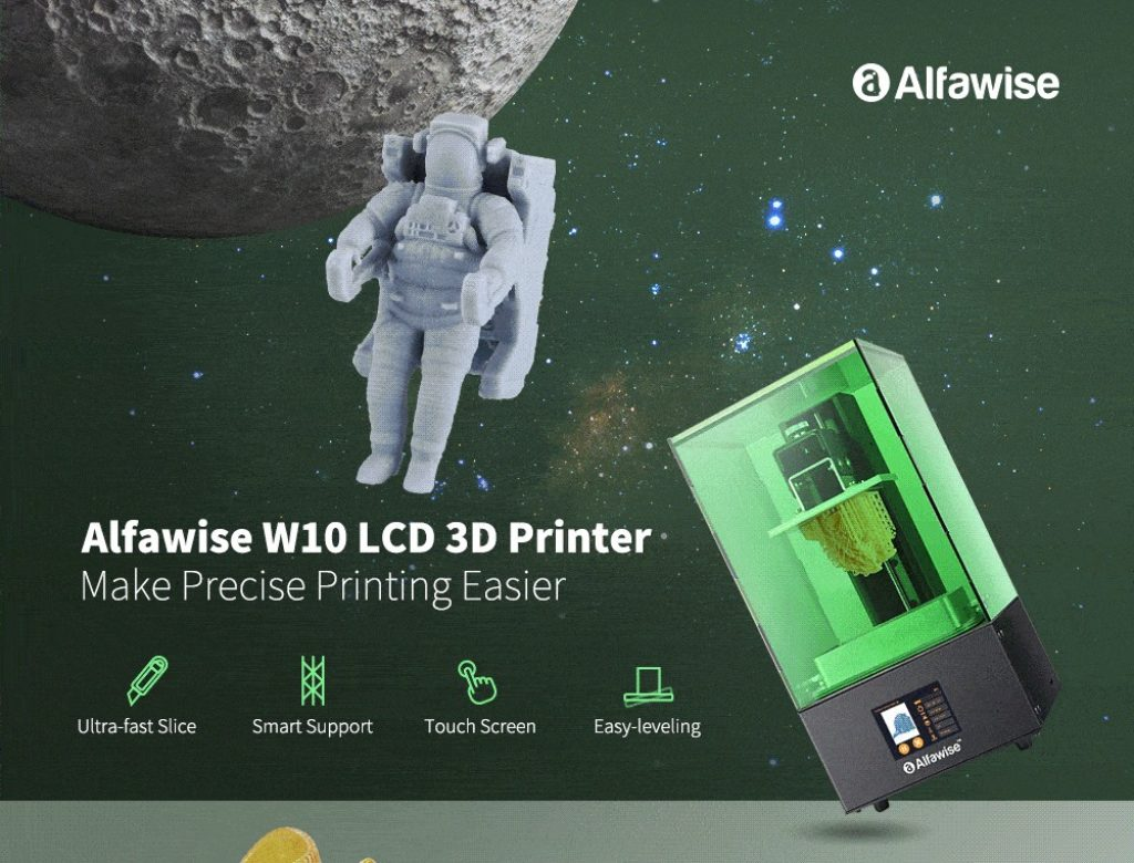 coupon, gearbest, Alfawise W10 LCD SLA Resin 3D Printer