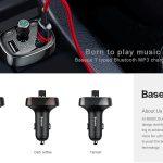 coupon, gearvita, chargeur de voiture mains libres Bluetooth pour modulateur d'émetteur Baseus FM