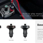 kupon, gearvita, Baseus FM Transmitter Modulator Charger Mobil Bluetooth Handsfree
