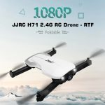 coupon, gearbest, JJRC H71 2.4G Foldable RC Drone - RTF - White