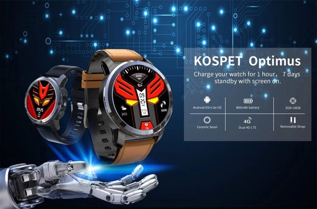 banggood, coupon, gearvita, Kospet Optimus 4G Smartwatch