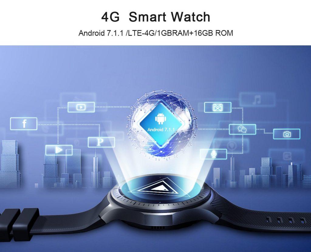 coupon, gearvita, LEMFO LF25 4G Smartwatch Phone Global Version