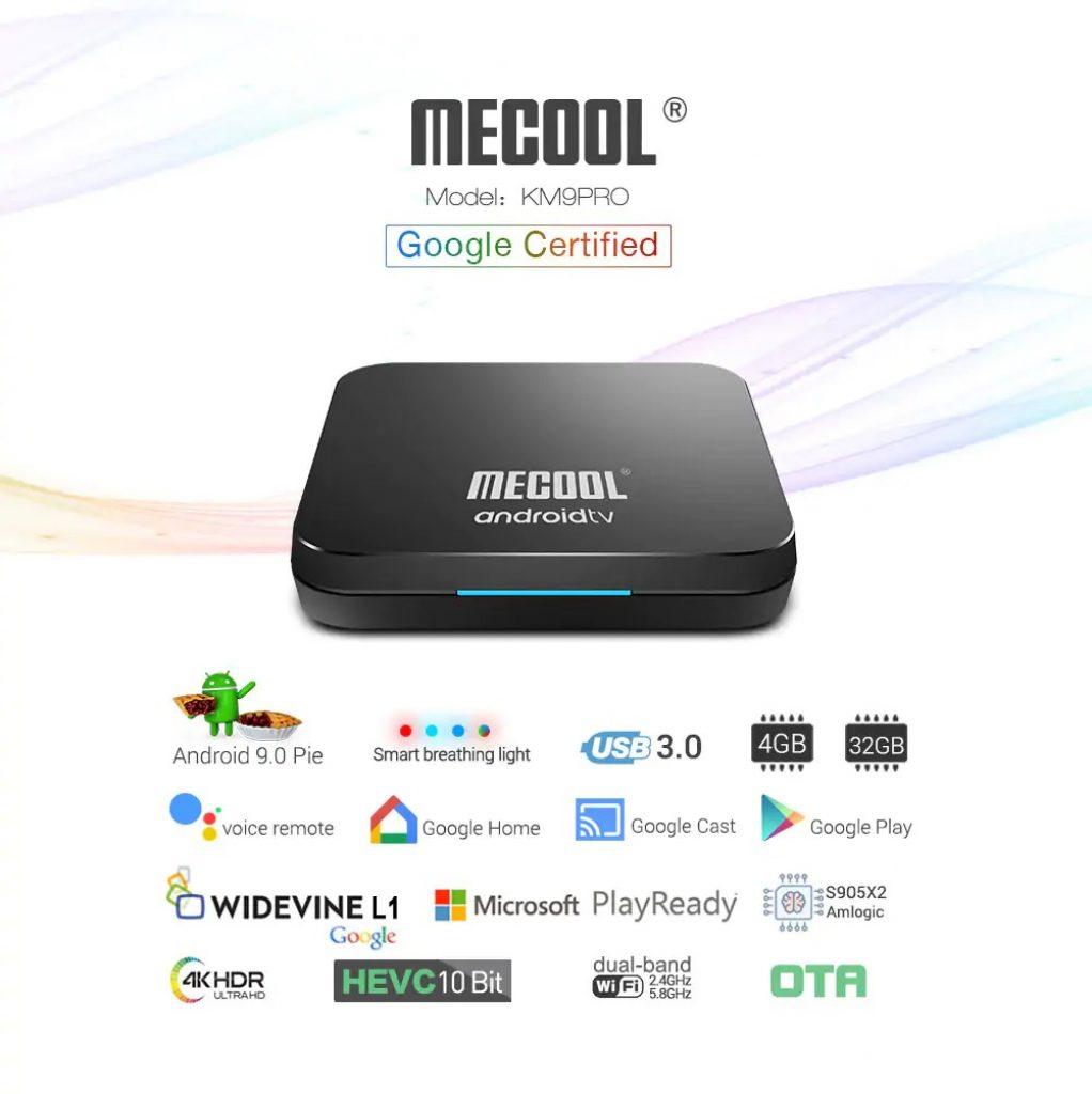 kupon, gearbest, MECOOL KM9 Pro Kotak Kontrol Suara TV