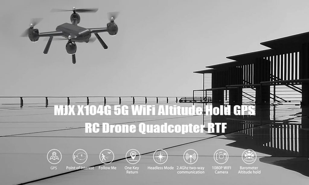 coupon, gearbest, MJXR C Technic X104G WiFi 5G Altitude Hold GPS RC Drone Quadcopter RTF