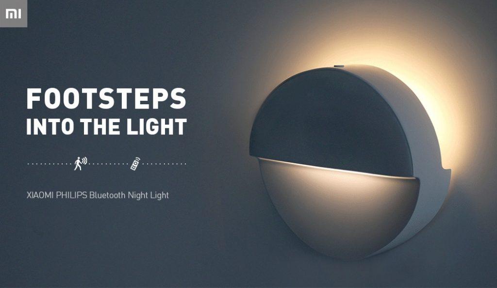 Phiếu giảm giá, gearbest, Đèn ngủ hồng ngoại cảm biến Bluetooth Mijia Philips