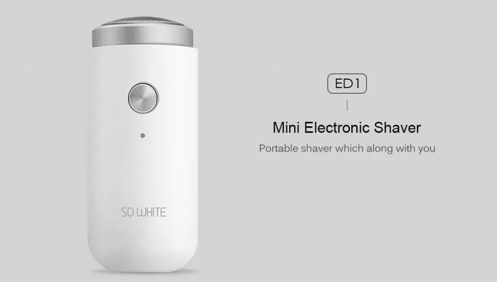 coupon, gearbest, SO WHITE ED1 Mini Electric Shaver from Xiaomi youpin