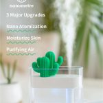 coupon, banggood, XIAOMI SOTHING 319 Clear Cactus Ultrasonic Air Humidifier 160ML Color Light USB Air Purifier Anion Mist Maker Water Atomizer