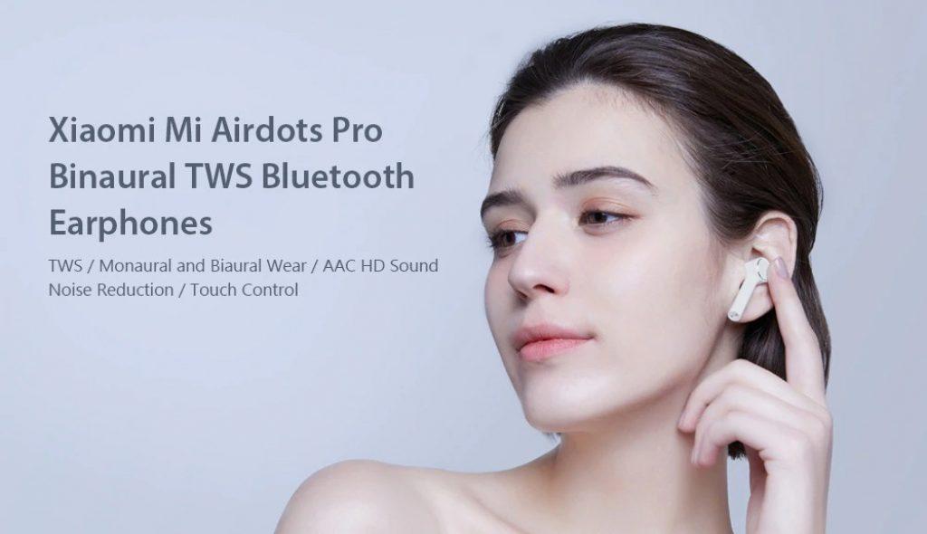 coupon, gearbest, Xiaomi Mi Airdots Pro Binaural TWS Bluetooth Earphones Wireless Earbuds
