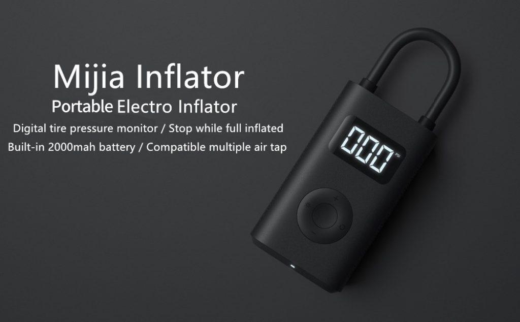 kupon, gearvita, Xiaomi Mijia MJCQ01QJ Pompa Inflator Listrik Ban Digital