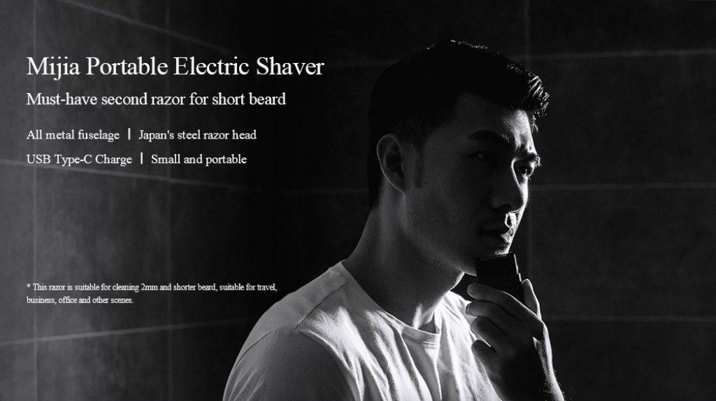 coupon, gearvita, Xiaomi Mijia Portable Electric Shaver USB Reîncărcabilă