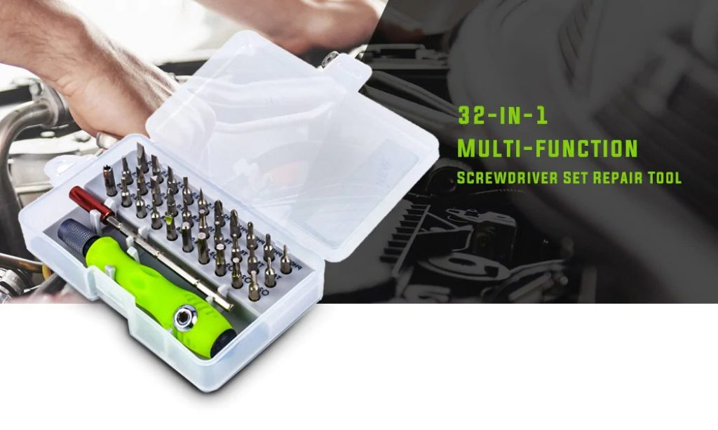 coupon, gearbest, 32-in-1 Multi-function Screwdriver Set Repair Tool