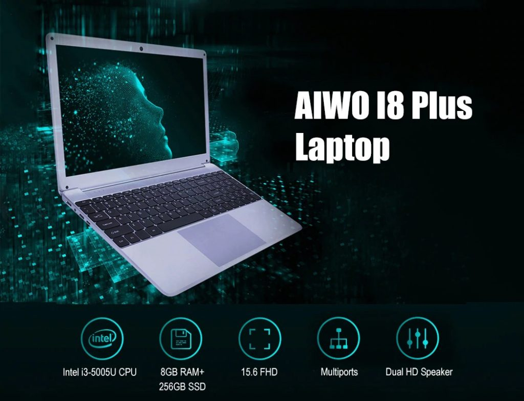 coupon, gearbest, AIWO I8 Plus 15.6 inch Laptop