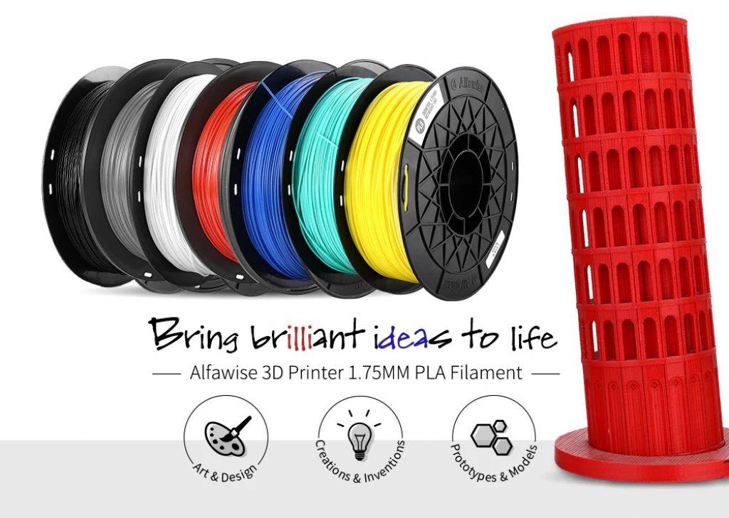 coupon, gearbest, Alfawise 3D Printer 1.75MM PLA Filament