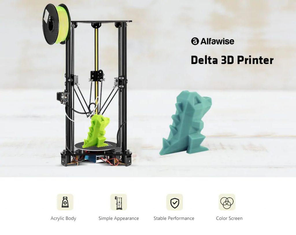 coupon, gearbest, Alfawise Delta 3D Printer