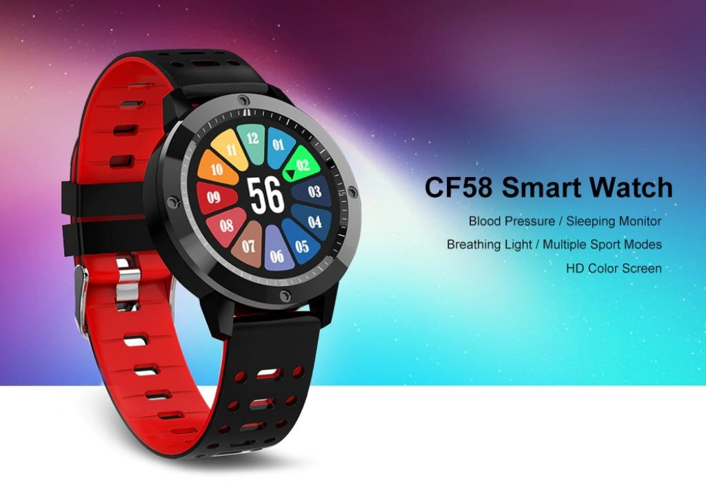 coupon, gearbest, CF58 montre intelligente