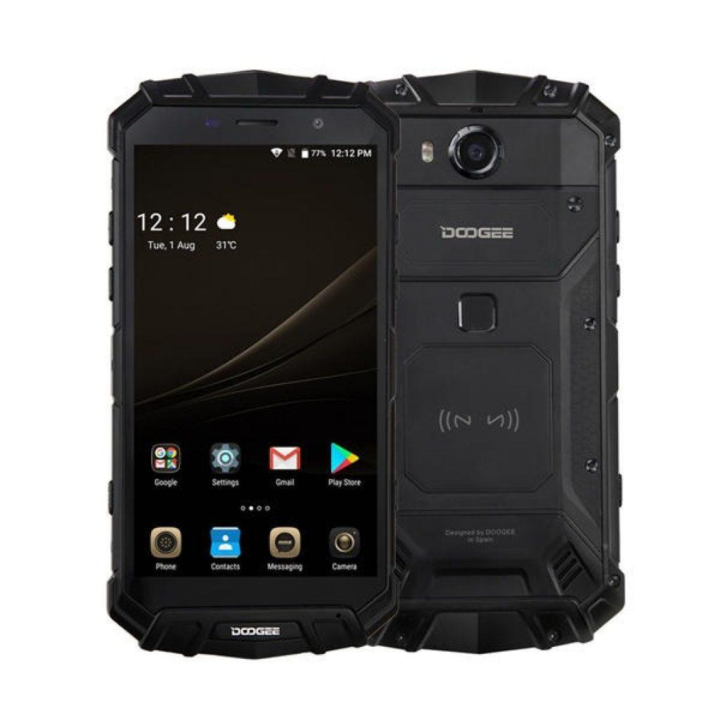 DOOGEE S60 लाइट 5.2 इंच IP68 वाटरप्रूफ NFC वायरलेस चार्जिंग 5580mAh 4GB RAM 32GB ROM MT6750T 4G स्मार्टफोन - ब्लैक, कोपुन, बैंगगार्ड