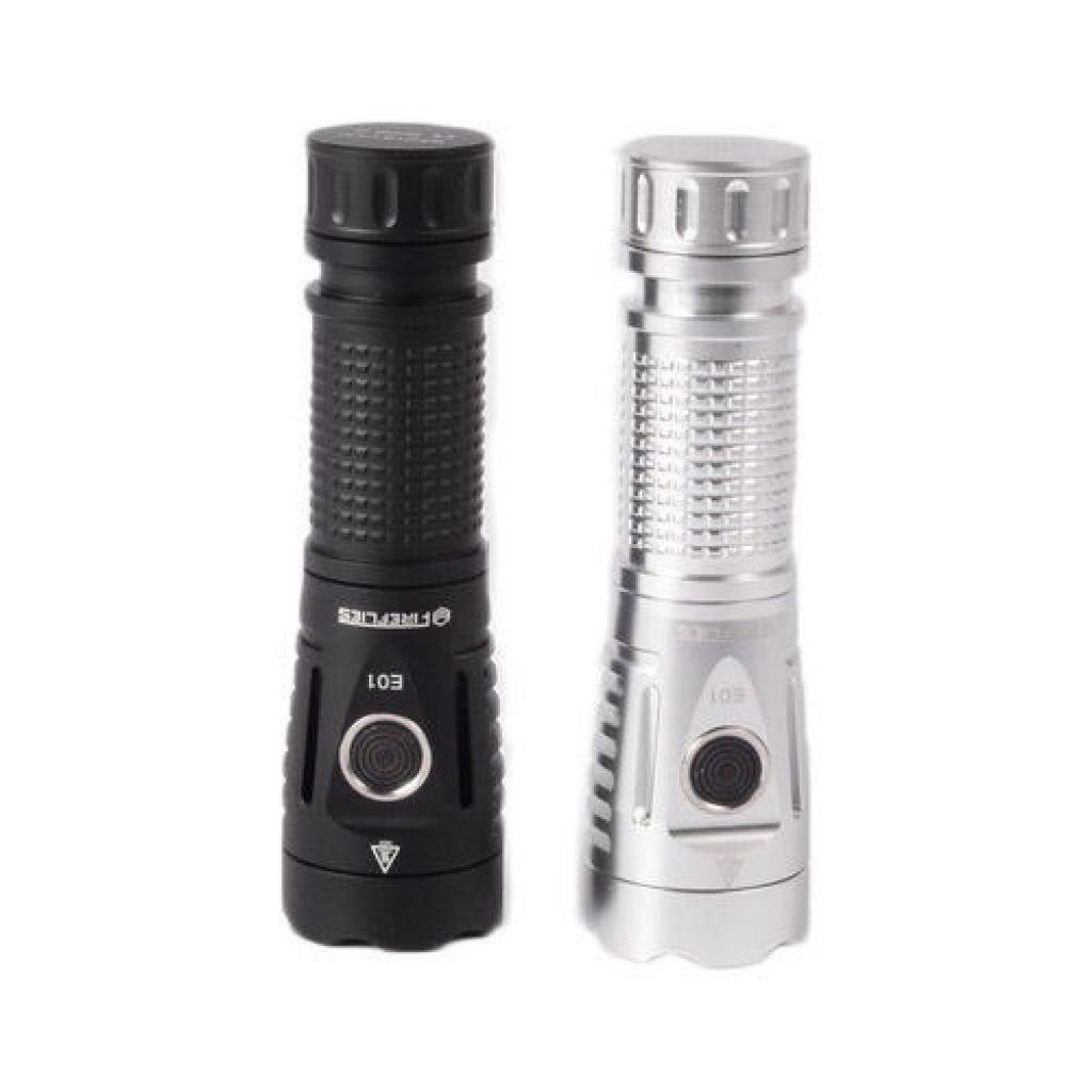 Fireflies E01 SST40W N5 5700K 2300 Lumens EDC LED Flashlight 21700 18650 - Silver, COUPON, BANGGOOD