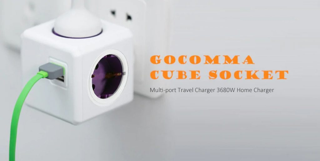 coupon, gearbest, GOCOMMA 1100 Cube Socket