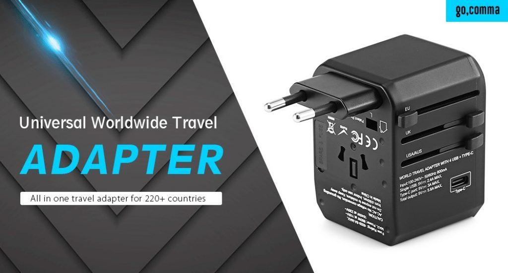 kupón, převodovka, Gocomma univerzální globální cestovní napájecí adaptér