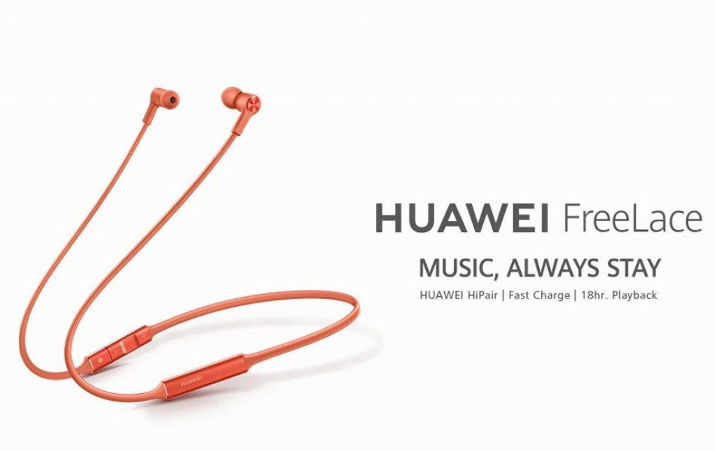 coupon, gearvita, Huawei FreeLace Wireless In-ear Earphones Bluetooth 5.0 HUAWEI HiPair Technology