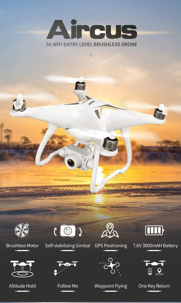 coupon, gearbest, JJRC X6 Aircus GPS RC Drone with Two-axis Stabilization PTZ Gimbal