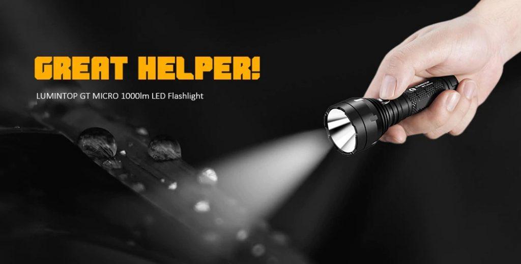 Phiếu giảm giá, gearbest, Đèn pin LED LUMINTOP GT MICRO 1000lm