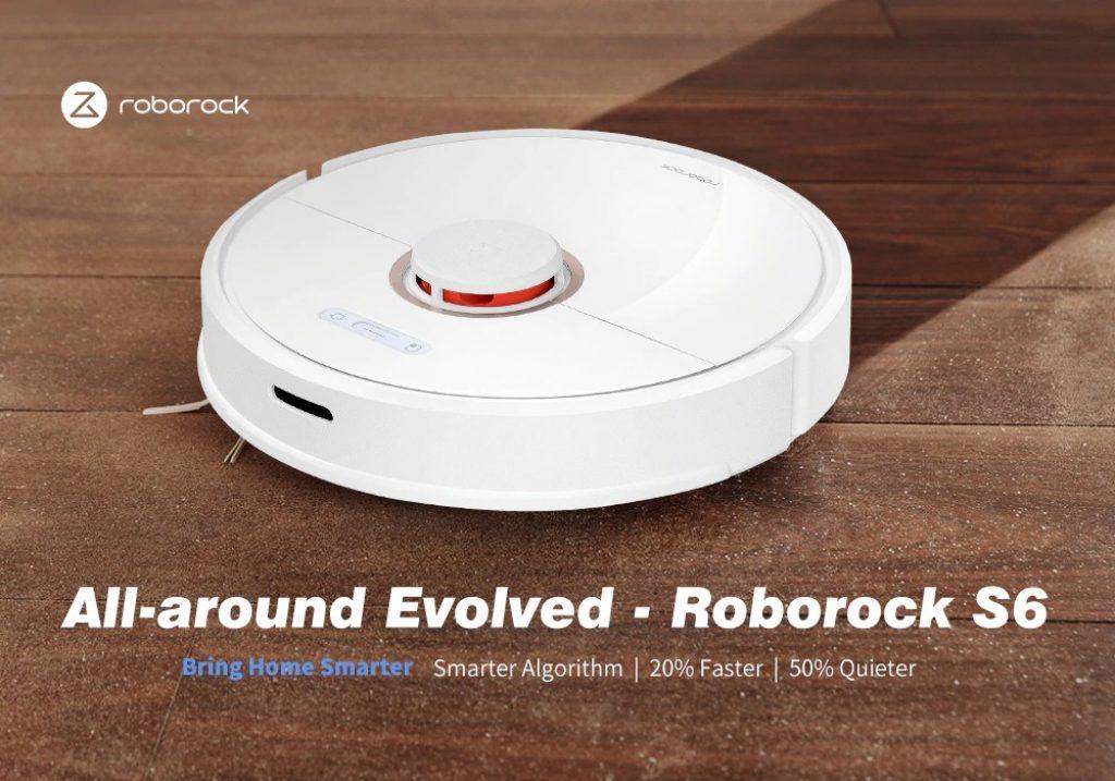 banggood, coupon, gearbest, Roborock S6 LDS Scanning SLAM Algorithm Robot Vacuum Cleaner
